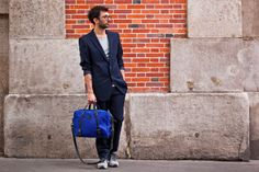 Bleu de Chauffe | Men | Waxed canvas business bag I Reporter Bag I Sac homme made in France
