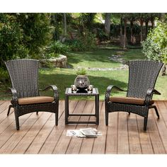 Start hosting outdoor parties with this charming six-piece chair set. The wicker-inspired frames create a gorgeous flared fan back while offering convenient, curved armrests to ensure you and your guests are always well supported.