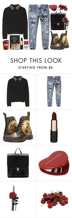 """""""Untitled #84"""" by roxeyturner ❤ liked on Polyvore featuring Baudelaire, Alice + Olivia, Abercrombie & Fitch, Dr. Martens, Mimco, Hstyle, Marc Jacobs and INC International Concepts"""