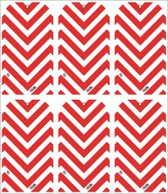 Chevron lovers, rejoice! Free printable Christmas holiday gift tags! Find many more on the blog!