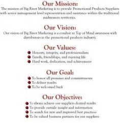 Mission Vision Values Statements Business Vision Statement