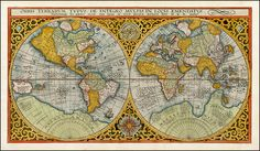 Map of the World by Petrus Plancius, 1590.
