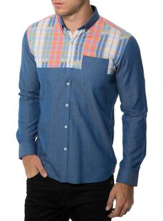Language Of My Love - Patterned chest shirt from 7 Diamonds $99