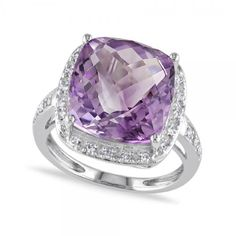 18K GOLD EP 8.0CT AMETHYST SOLITAIRE RING WOW size 10 or T 1//2