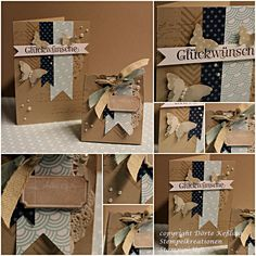 Elegant craft paper card