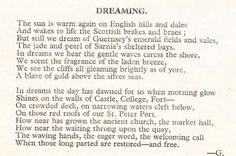 This poem was written by a Guernsey evacuee (name unknown) in 1944. Courtesy of the Channel Island Review magazine