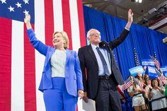 Bernie Sanders endorses Hillary Clinton 7/12/16. M. Scott Mahaskey/POLITICO