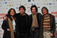 """L'équipe du film """"La Xirgu""""./ Photo DDM, Frédéric Charmeux."""