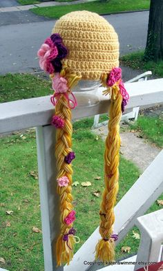 Rapunzel hat--I know a little girl who would love this hat!!!