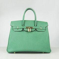 c326adf1a483 Wholesale Réplique Hermes Birkin 35CM modèle de perle or vert - €330.00    réplique sac a main, sac a main pas cher, sac de marque   sac hermes birkin  pas ...