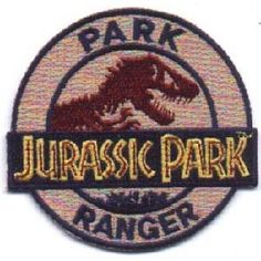 Jurassic Park Movie Park Ranger Logo Embroidered Patch New Unused | eBay