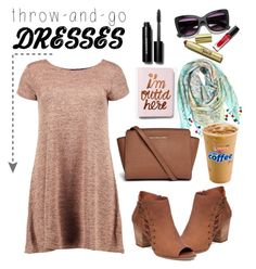 """""""Easy Peasy:  Throw-and-Go Dresses"""" by pixidreams ❤ liked on Polyvore featuring Express, Calypso St. Barth, Bobbi Brown Cosmetics, Lucky Brand, Boohoo, Michael Kors and easypeasy"""