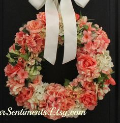 Mothers Day Gifts Floral Wreaths Floral by OurSentiments on Etsy