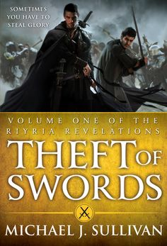 I'm loving this series so far! I'm on book 4. From Goodreads.com: Royce Melborn, a skilled thief, and his mercenary partner, Hadrian Blackwater, make a profitable living carrying out dangerous assignments for conspiring nobles-until they are hired to pilfer a famed sword. What appears to be just a simple job finds them framed for the murder of the king and trapped in a conspiracy that uncovers a plot far greater than the mere overthrow of a tiny kingdom.    Click through for more!