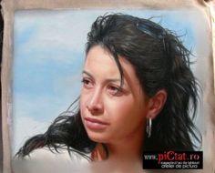 Tablouri pictate: Comanda acum un Portret Pictat pe Panza Portret femeie