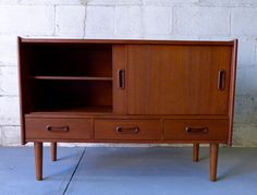Mid Century Modern styled Jr. Credenza