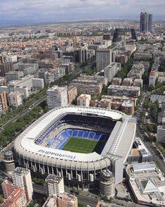 Estadio Santiago Bernabeu, home of Real Madrid CF.