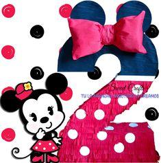 Piñata Minnie Cumplo 2 #DiseñosManualesYGraficos #SweetCraftsOax #TuLoImaginasNosotrosLoCreamos