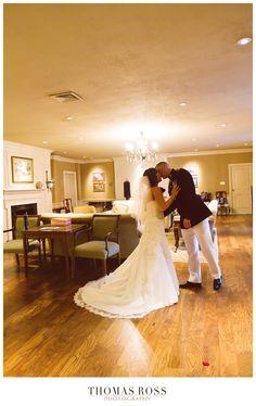 Bride and Groom post wedding kiss