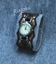 Diy Denim Bracelets, Backpack Pattern, Art Watch, Flower Bracelet, Fabric Jewelry, Diy Crafts To Sell, Felt Crafts, Textiles, Watch Bands