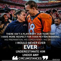 Bill Belichick on Peyton Manning. Denver Broncos Football, Go Broncos, Broncos Fans, Pittsburgh Steelers, Dallas Cowboys, Indianapolis Colts, Cincinnati Reds, Ut Football, Football Memes