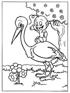 kleurplaat hoera een dochter kleurplaten nl baby geboren