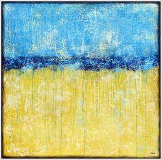 """blue summer jeans"", acrylic on canvas - by Stella Hettner"