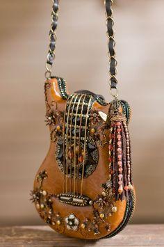 Mary Frances Hall Of Fame Guitar Carmel Brown Handbag by The Leather Handbags Boho Gypsy, Hippie Boho, Hippie Art, Boho Chick, Fashion Bags, Fashion Accessories, Carmel Brown, Mary Frances Handbags, Hippie Style
