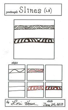 Slines~Zentangle by Lori Howe, Certified Zentangle Teacher