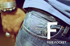 The Replay denim alphabet. F as in Five pocket.