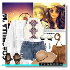 """Hot Coachella Style"" by aidasusisilva ❤ liked on Polyvore featuring H&M, Billabong and bestofcoachella"