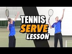 Tennis Serve Lesson for Beginners - How To Hit a Serve How To Play Tennis, Tennis Grips, Tennis Serve, Tennis Lessons, Tennis Party, Tennis Equipment, Tennis Workout, Sport Tennis, Tennis Gear