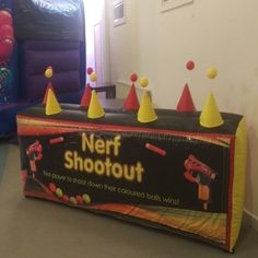 Bouncy castles, Rodeo bull and Soft play hire Disco Bouncy Castle, Nerf, Soft Play, Sheffield, Toy Chest, Games, Party, Color, Colour
