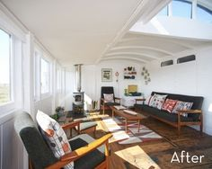 Before and After: Awesome Railway Car Living Room Makeover » Curbly | DIY Design Community - in case I ever move to a railroad car.