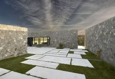 """""""Field Home the fundamental assumption of this concept and the main requirement of the investor was to separate the building from the street and make it blend into the surrounding field land""""Field Ho Exterior, Home Projects, Sidewalk, Architecture, Building, House, Design, Arquitetura, Construction"""