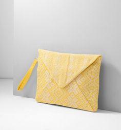 Pochette enveloppe Femme jaune - Promod