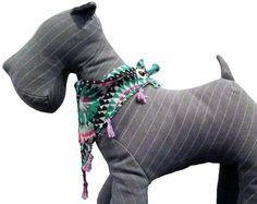 Dog Bandana / Clothing  Green Multi Aztec / by UrbanOliveApparel. , via Etsy.