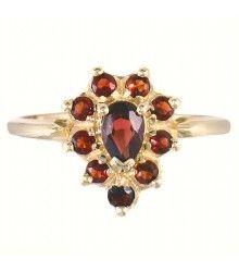 14K Pear-Shaped Garnet Estate Ring, Our #49382