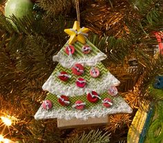 Paper Mache Christmas Tree Ornament - See how to make this ornament with Mod Podge