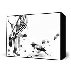 White Stripes Mini Art Block, $26, now featured on Fab. [Print, Lora Zombie]