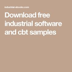 Download free industrial software and cbt samples