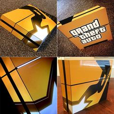 How are you passing the time between now and GTA V's release on new consoles? Playstation 4 Console, Playstation Games, Ps3, Xbox 360, Gamer News, Custom Consoles, Magic Design, Nintendo Eshop, Ps4 Skins