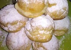 Foto principal de Bombas rellenas de crema pastelera Pasta Choux, Sin Gluten, Pretzel Bites, Relleno, Cupcake Cakes, Cupcakes, Camembert Cheese, Hamburger, Lemon