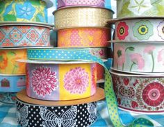 This is for Lori.  She loves ribbon and can't resist buying it if it's cute like these!