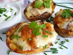 Fotorecept: Gazdovské zemiaky plnené bryndzou - Tradičné slovenské jedlá boli často jednoduché ale zato veľmi chutné. Gnocchi, Baked Potato, Potatoes, Ale, Cheese, Baking, Ethnic Recipes, Pizza, Foods