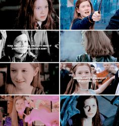 Ginny Weasley, one of the best characters in the books, and barely mentioned in the movies...