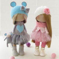 Lerika Doll-Handmade Doll-Textile Doll-Fabric por LerikaDolls