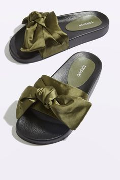 HALO Bow Sliders - New In- Topshop