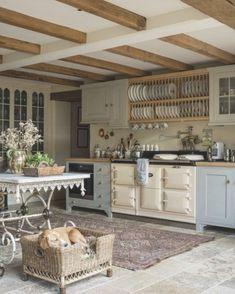 Country Kitchen Ideas Farmhouse Style, English Country Kitchens, Country Kitchen Designs, Country House Interior, Rustic Kitchen, Kitchen Interior, Kitchen Decor, English Farmhouse, Country Decor