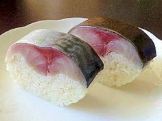 """""""Pressed mackerel SUSHI"""" - japanese recipe/意外と簡単!家庭で作る鯖寿司"""